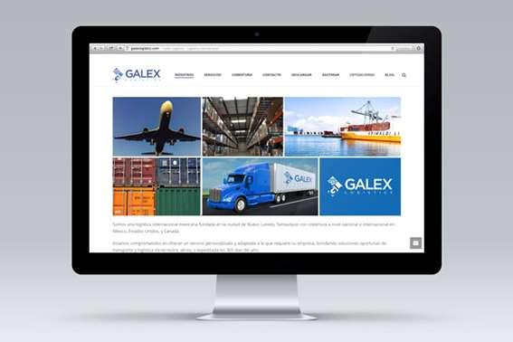 Sitio web Galex