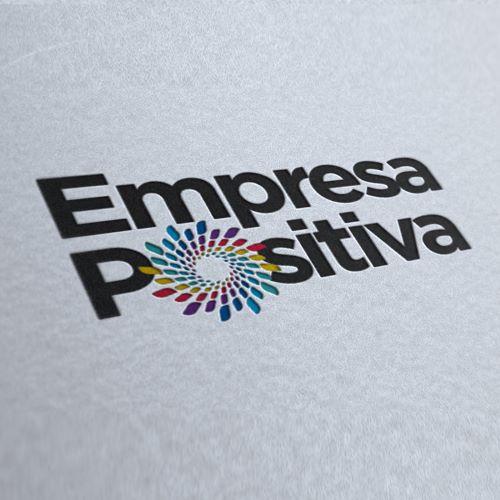 Mockup logo de empresa positiva